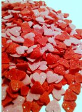 Red & Pink Heart Sparkle Sugar Sprinkles